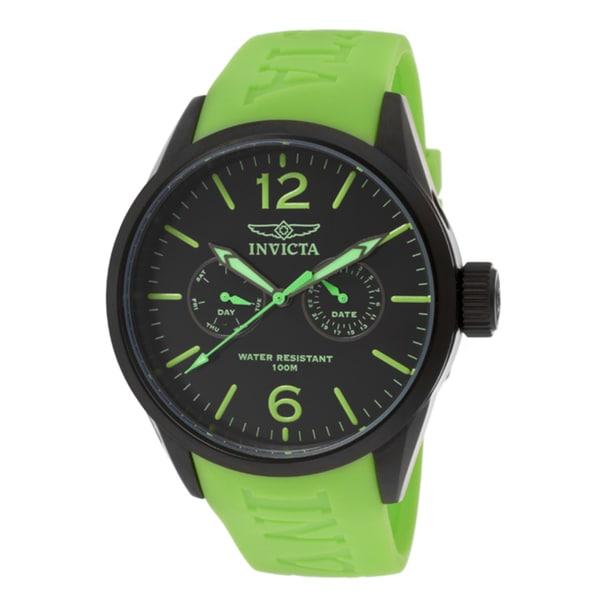 Invicta Unisex 'I-Force' Green Polyurethane Watch