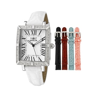 Invicta Women's 'Wildflower' White Leather Watch