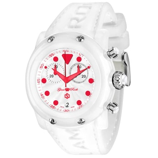 Glam Rock Women's Miami White Silicone Watch