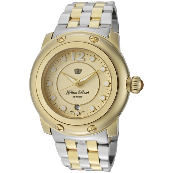Glam Rock Women's 'Miami' Two-Tone Watch