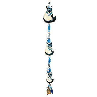Blue-Eyed Cats Wind Chime (India)