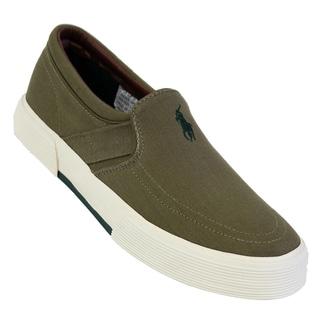 Polo Ralph Lauren Men's 'Faxon' Olive Canvas Sneakers