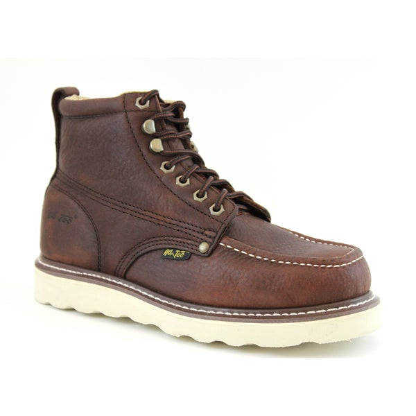 AdTec Men's 6-inch Brown Leather Farm Boots