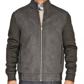 Men's Slate Grey Knitted Wool Jacket