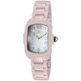 Invicta Women's 'Baby Lupah' Pink Ceramic Watch