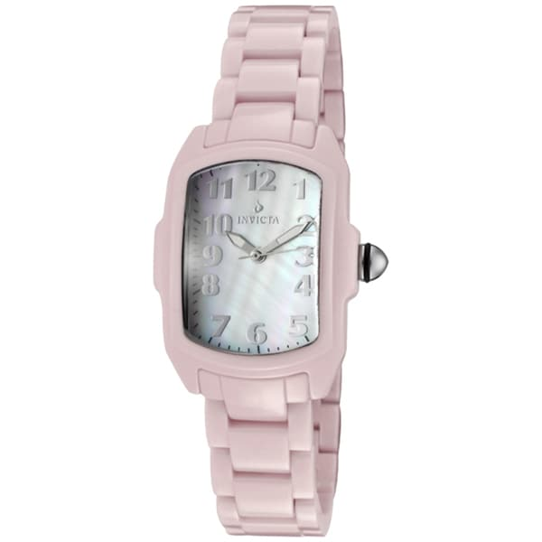Invicta Women's 'Baby Lupah' Pink Ceramic Watch