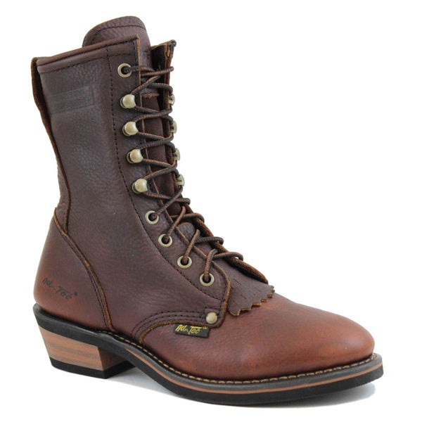 AdTec Women's 8-inch Chestnut Leather Packer Boots