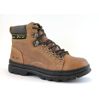 AdTec Men's 6-inch Brown Crazy Horse Leather Hiker