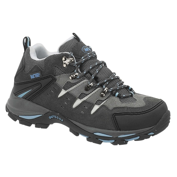 AdTec Women's Grey/ Blue Steel-toed Work/ Hiker Boots