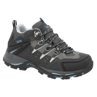 AdTec Women&#39;s Grey/ Blue Steel-toed Work/ Hiker Boots