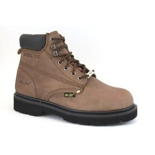 AdTec Men's 6-inch Nubuck Steel-toed Work Boots