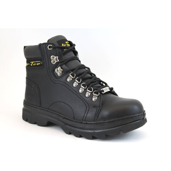 AdTec Men's 6-inch Black Leather Steel-toed Hiker Boots