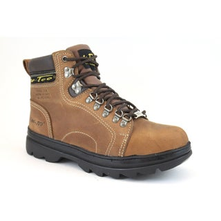 AdTec Men's 6-inch Brown Steel-toed Hiker Boots