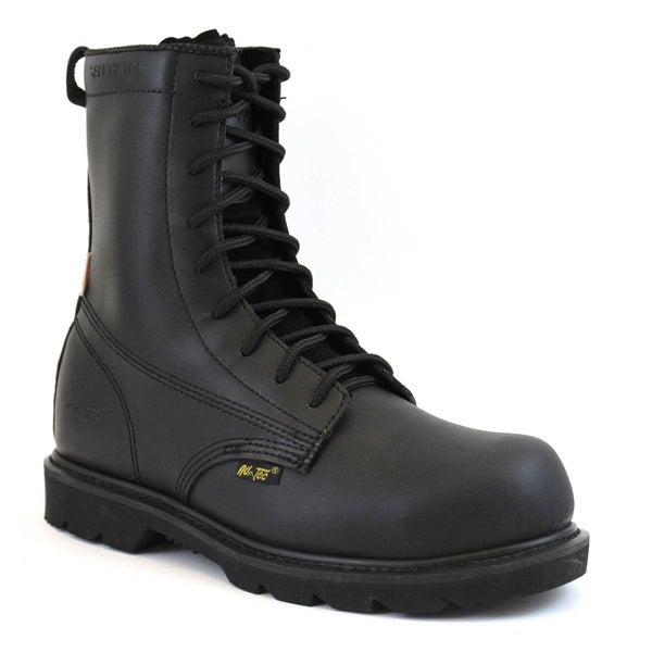 AdTec Men's 8-inch Black Action Leather Uniform Boots
