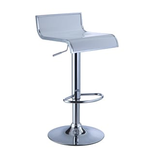 White/ Chrome Adjustable Bar Stool