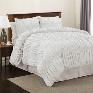 Lush Decor Venetian 4-Piece White Comforter Set