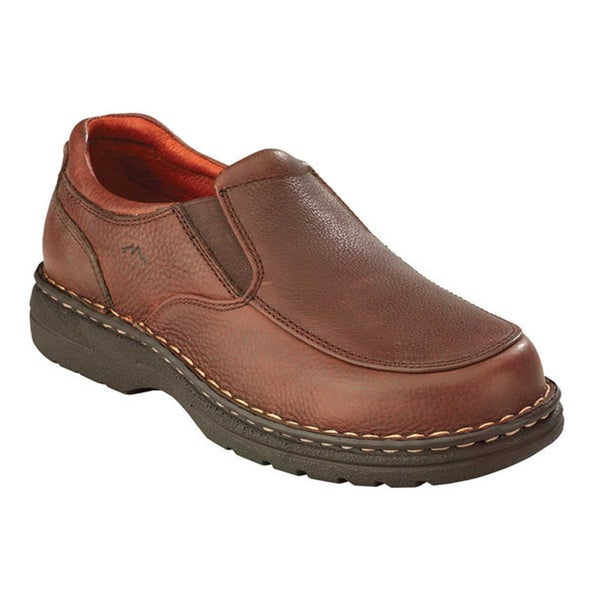 adtec s chestnut leather slip on shoes 14919306