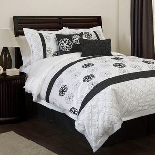 Lush Decor Covina Black/White 6-piece Comforter Set