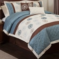 Lush Decor Covina Blue/Brown 6-piece Comforter Set