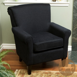 Christopher Knight Home Fontaine Embroidered Black Club Chair