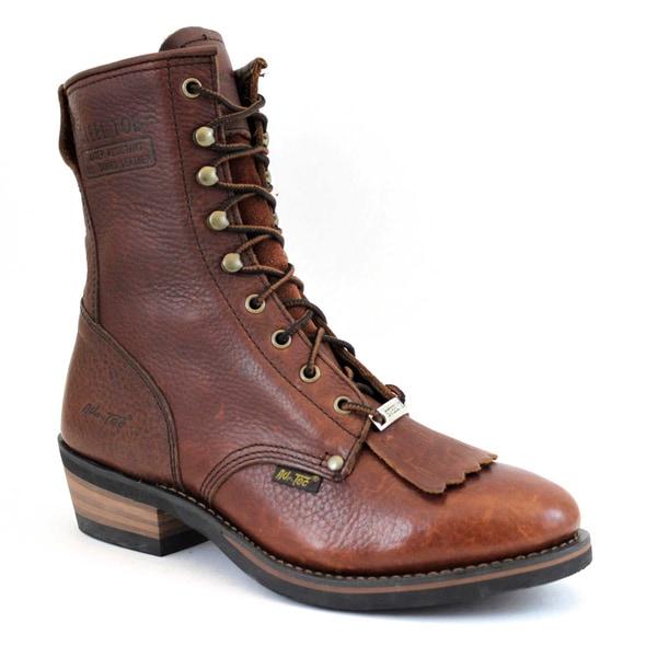 AdTec Men's 9-inch Chestnut Steel-toed Packer Boots