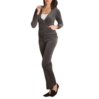Regular and Plus Size 2 Piece Velour Track Suit
