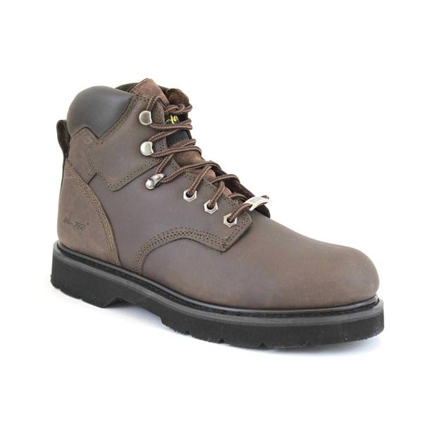 AdTec Men's Crazy Horse Steel Toe Leather Work Boots