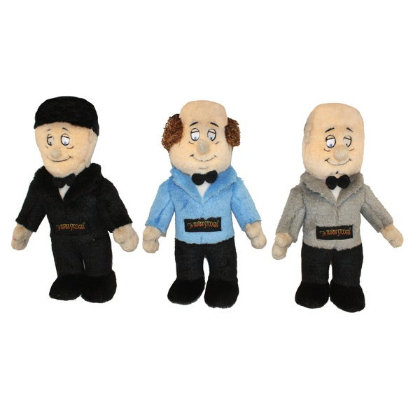 Multipet Talking Three Stooges 3-piece Dog Toys Set