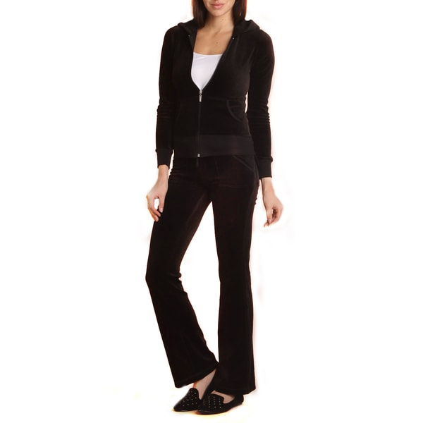 Women's 2-piece Lounge Wear Velour Track Suit