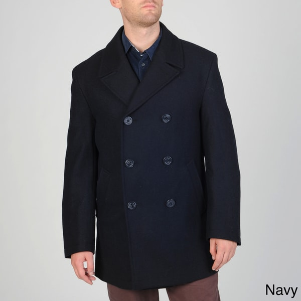 Cianni Cellini Men's Wool-blend Double-breasted Peacoat