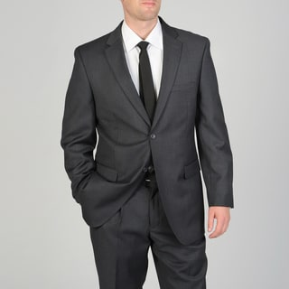 Ferretti Men's Charcoal Sharkskin Wool Suit