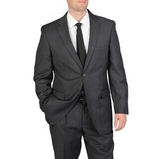 Ferretti Men's Charcoal Wool Suit