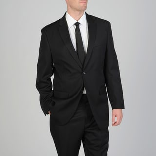 Ferretti Men's Black Wool 2-button Suit