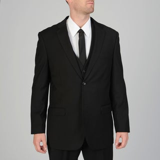 Caravelli Men's 3-piece Black Vested Suit