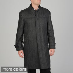 Pronto Moda Men's 'Rosa' Herringbone Wool/ Cashmere Blend Topcoat