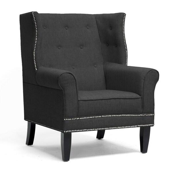 Kyleigh Grey Linen Modern Arm Chairs (Set of 2)