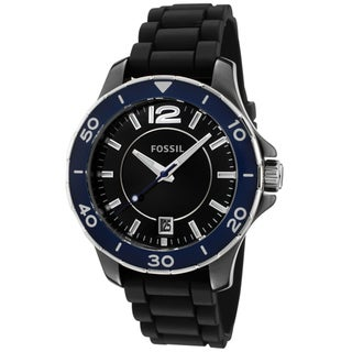 Fossil Unisex Black Silicon Watch