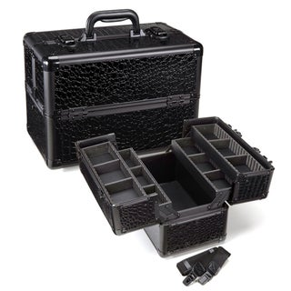 Seya Heat-Resistant Black Gator Makeup Case