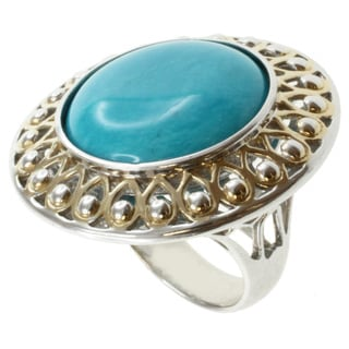 Michael Valitutti Jason Dow Two-tone Mexican Turquoise Ring