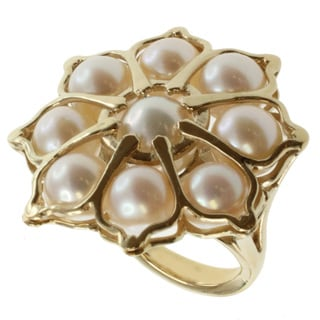 Michael Valitutti Jason Dow Pearl 'Lotus' Ring (7-8 mm)