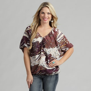 24/7 Comfort Apparel Women's Chiffon Blousant Top