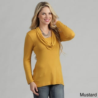 24/7 Comfort Apparel Women's Top Fashion Cowl Neck Top