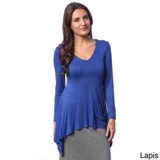 24/7 Comfort Apparel Women's Top Fashion Tunic Shirt