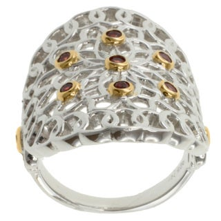 Michael Valitutti Jason Dow Two-tone Orange Sapphire Ring