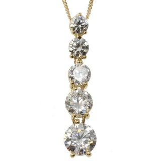 Michael Valitutti 14k Yellow Gold Cubic Zirconia Necklace