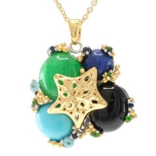 Michael Valitutti Jason Dow Two-tone Multi-gemstone Necklace
