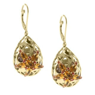 Michael Valitutti Jason Dow Two-tone Smokey Quartz and Citrine Earrings