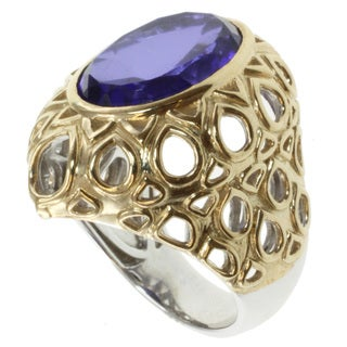 Michael Valitutti Jason Dow Two-tone Tanzanite Quartz Ring