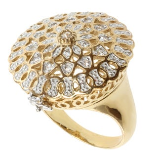 Michael Valitutti Jason Dow Two-tone White Sapphire Ring