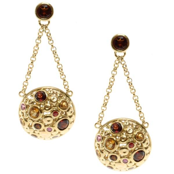 Michael Valitutti Jason Dow Two-tone Multi-gemstone Earrings